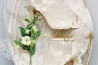27 modern sheer peep toe booties with floral appliques