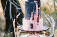 geode wedding table decor