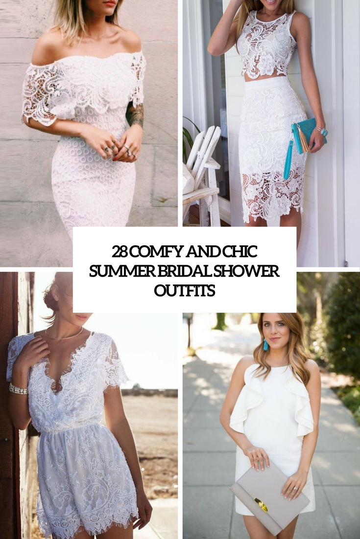 28 Comfy And Chic Summer Bridal Shower Outfits