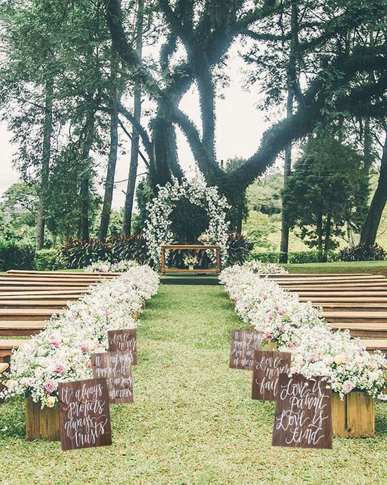 33 Romantic Summer Wedding Aisle Dcor Ideas Weddingomania