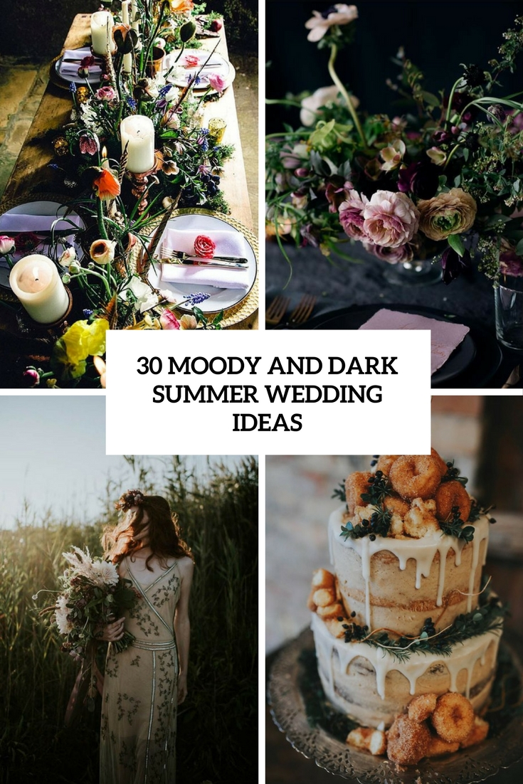 moody and dark summer wedding ideas cover