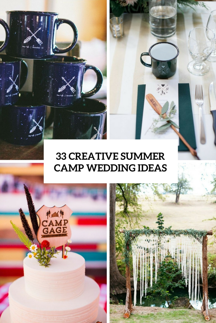creative summer camp wedding ideas cover