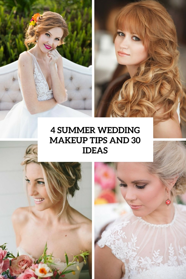 4 summer wedding makeup tips and 30 ideas cover