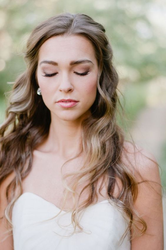 this bride chose cheek stain to make it last long