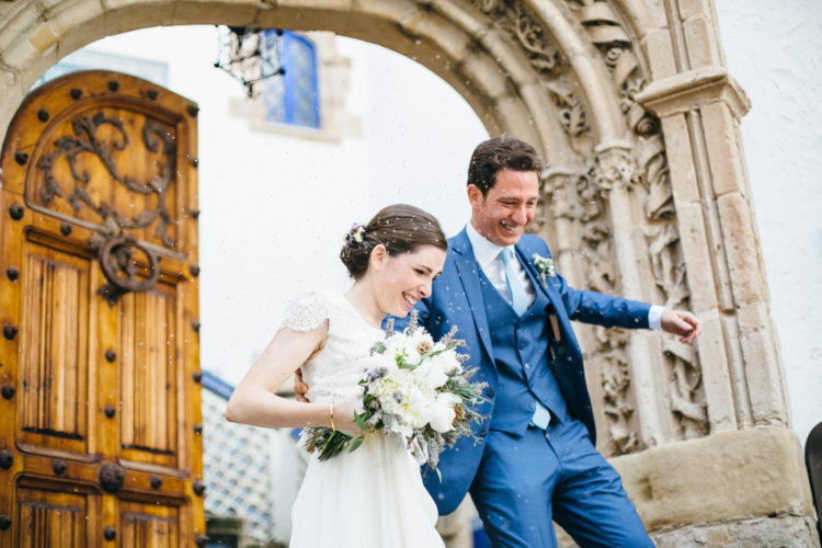 Chic Barcelona Wedding With Touches Of Blue
