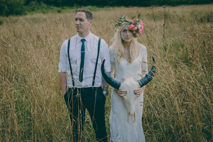 This couple wanted a non typical boho, rustic wedding, and music became its important part as they both love it