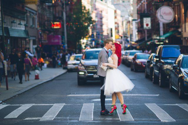 Travel-Inspired New York Bookshop Wedding