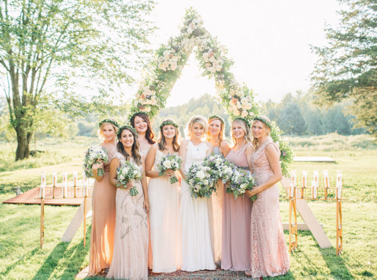 This gorgeous glam wedding was boho meets art deco and it took place in the mountains