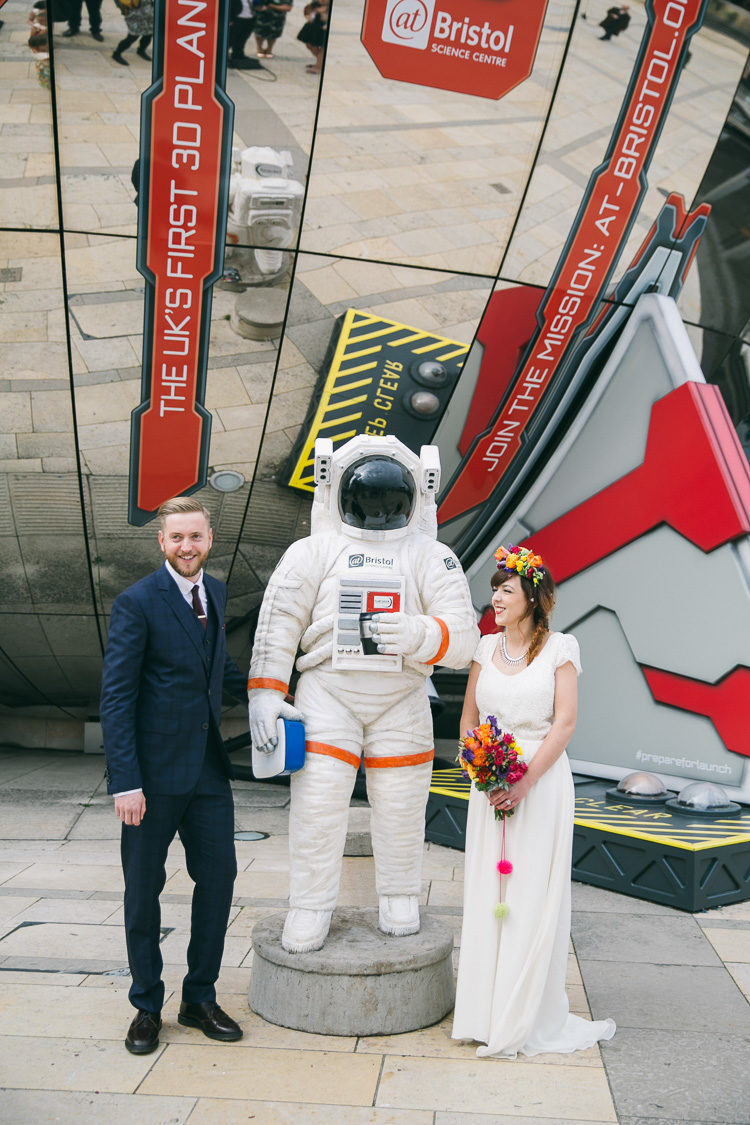 Space Planetarium Meets Frida Kahlo Colorful Wedding