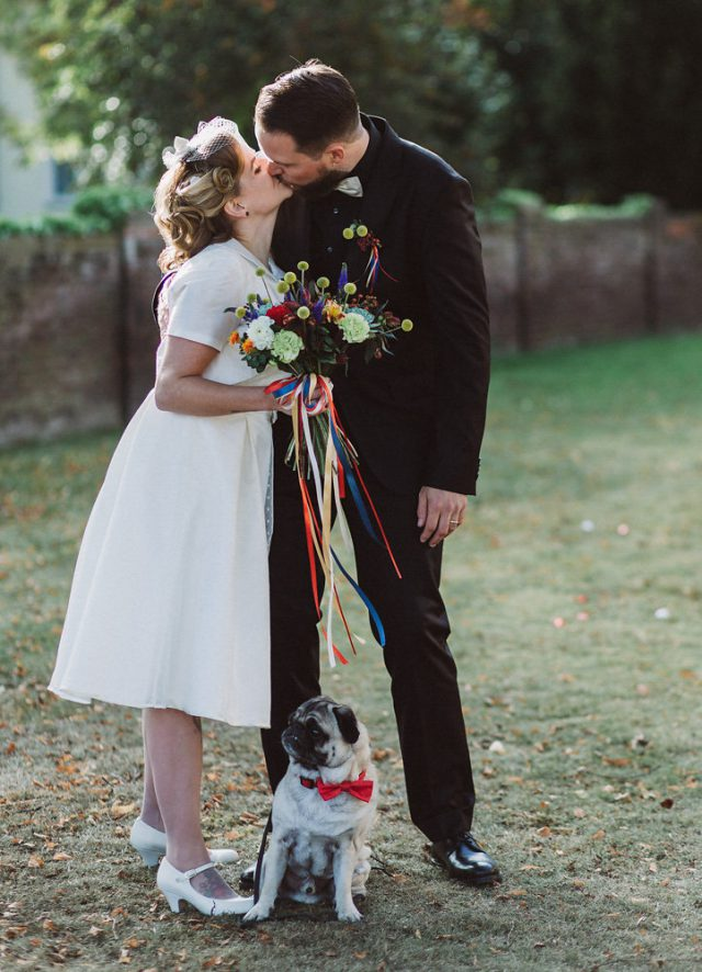 Vintage Wedding With Colorful Touches And DIYs