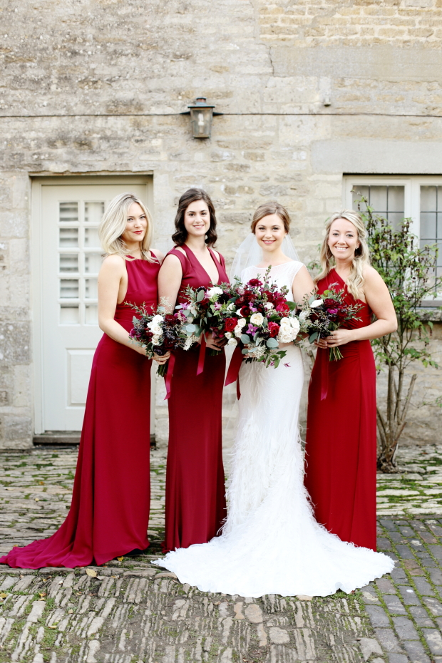 This winter barn wedding was berry toned, very cozy and with guests from both Great Britain and the USA