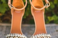 02 ankle strap crystal heeled wedding sandals look sexy