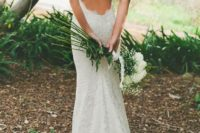 03 a backless lace wedding dress with spagheetti straps will let your skin breathe