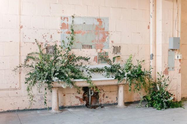 Vines and ferns look harmonious in industrial spaces