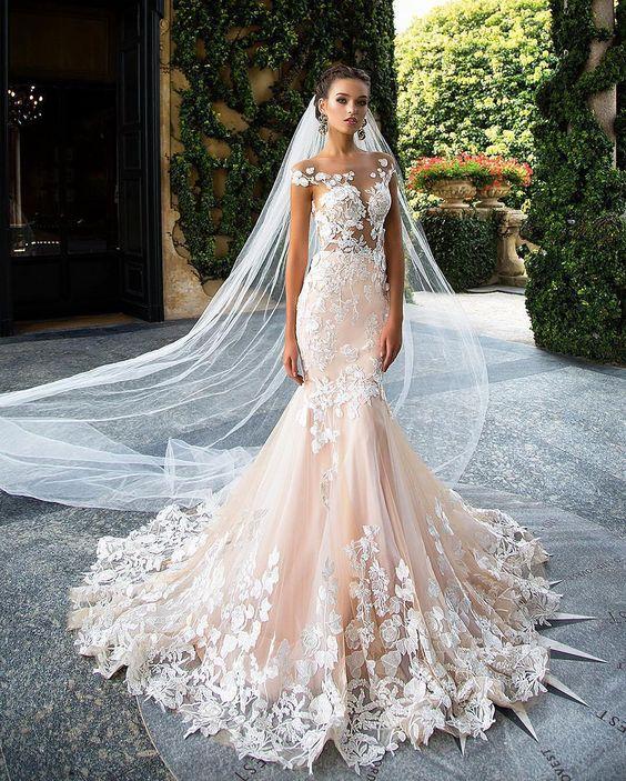 Wedding Dresses With Floral Applique : Gorgeous floral applique wedding dresses weddingomania