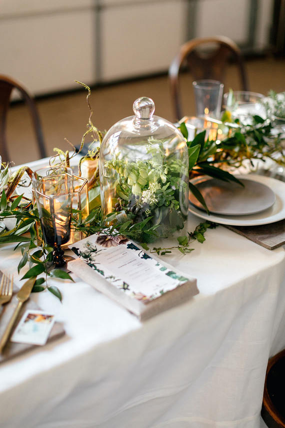 The tablescapes were with lights, candles and lots of greenery