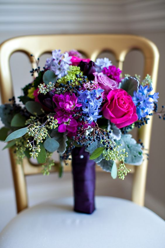 Gorgeous Jewel Tone Wedding Florals Ideas Weddingomania