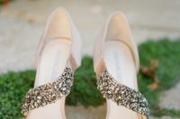 neutral wedding sandals