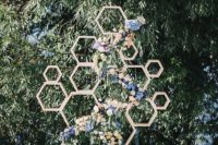 wedding backdrop with florals