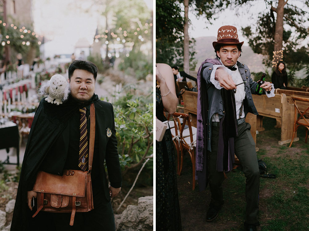 Every guest was asked to rock proper attire for the wedding