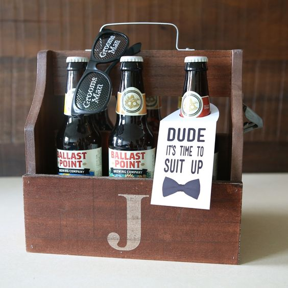 present your friends boxes with alcohol that you like and add tags to pop up the question