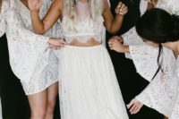 08 sheer bodice and a flowy lace skirt will make you feel a goddess