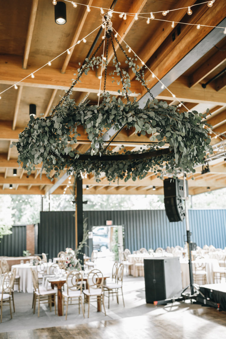 Herbs and various types of greenery were used to decorate the reception