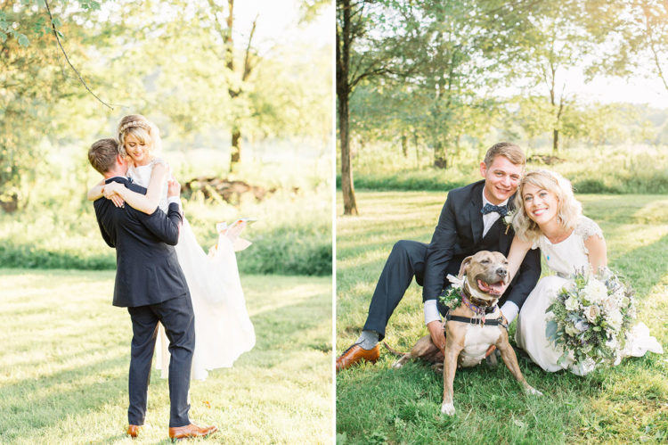 The couple's pup was included into the wedding