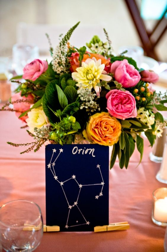 navy and white constellation table names