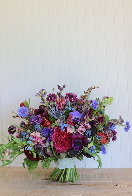 violet, fuchsia, pink and purple blooms for a bold floral statement