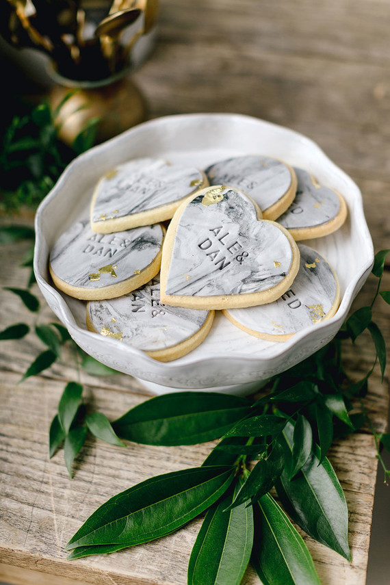 Marble cookies for guests' favors