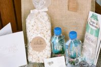 10 snacks and local water bottles make the welcome bag more thoughtful