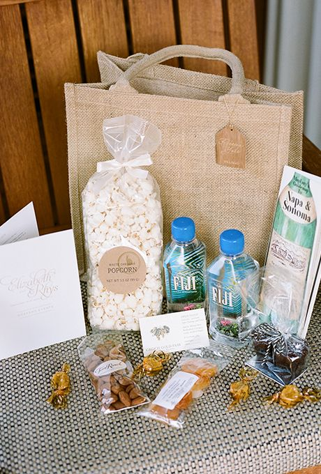 snacks and local water bottles make the welcome bag more thoughtful