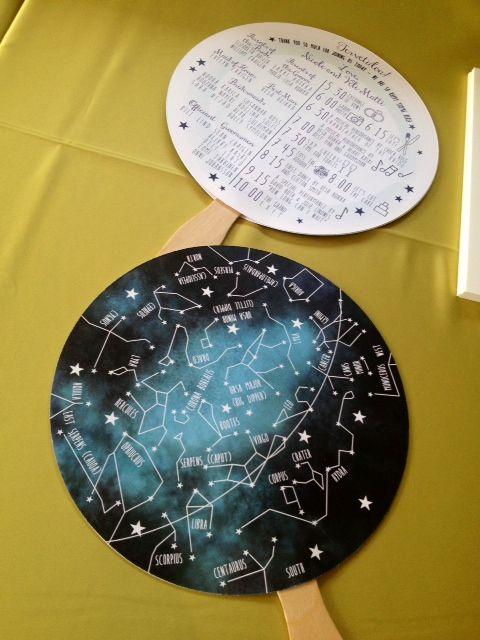 constellation and night sky wedding programs