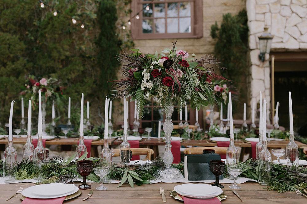 table decor for a wedding