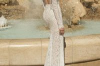 13 backless sheer lace wedding dress looks gorgeous and cool