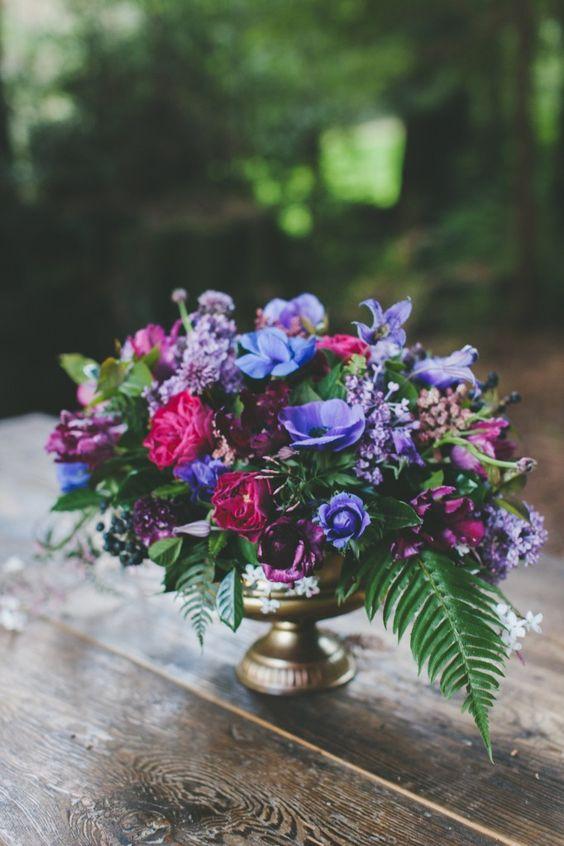 Gorgeous jewel tone wedding florals ideas weddingomania
