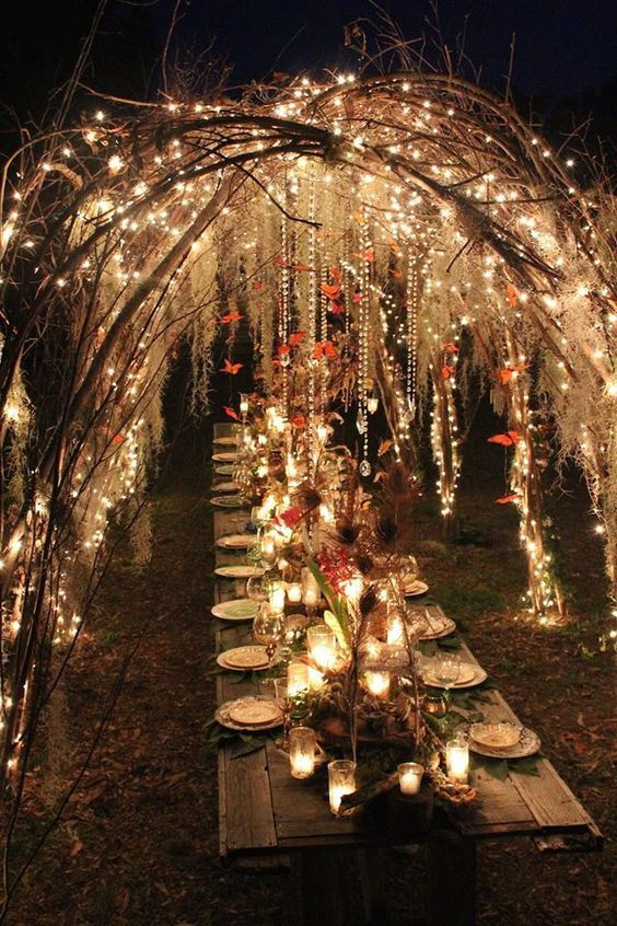 30 Outdoor Wedding Reception Lights Ideas - Weddingomania