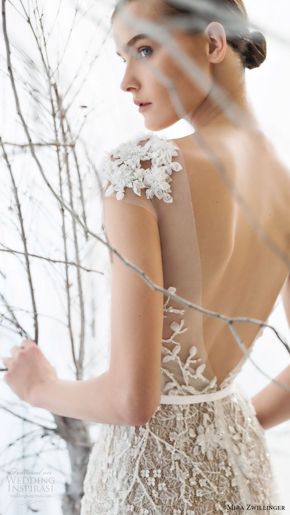 white lace flower applique faux cap sleeves
