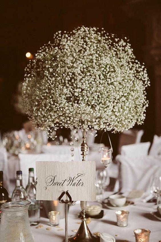 30 Timelessly Elegant Baby S Breath Wedding Centerpieces
