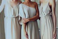 18 flowy and very light off-white boho bridesmaids dresses