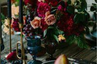boho lux wedding table decor