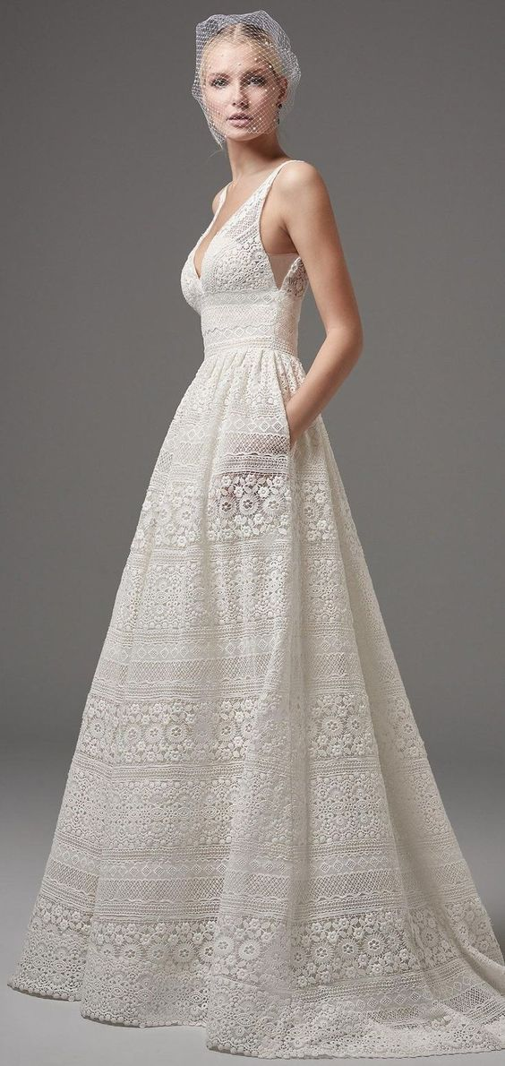 30 effortlessly chic wedding dresses with pockets weddingomania