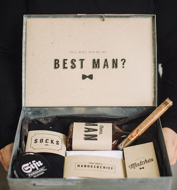 a tin box with socks, a handkerchief, matches, cigars is a great idea