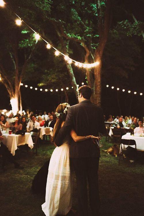 String Lights For Reception : 30 Outdoor Wedding Reception Lights Ideas - Weddingomania