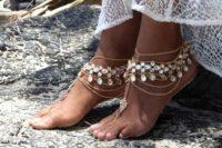 22 gypsy boho barefoot wedidng sandals