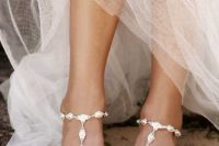 23 exquisite silver statement barefoot sandals for a bride