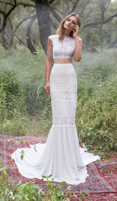 31 Trendiest Crop Top Wedding Dresses Weddingomania