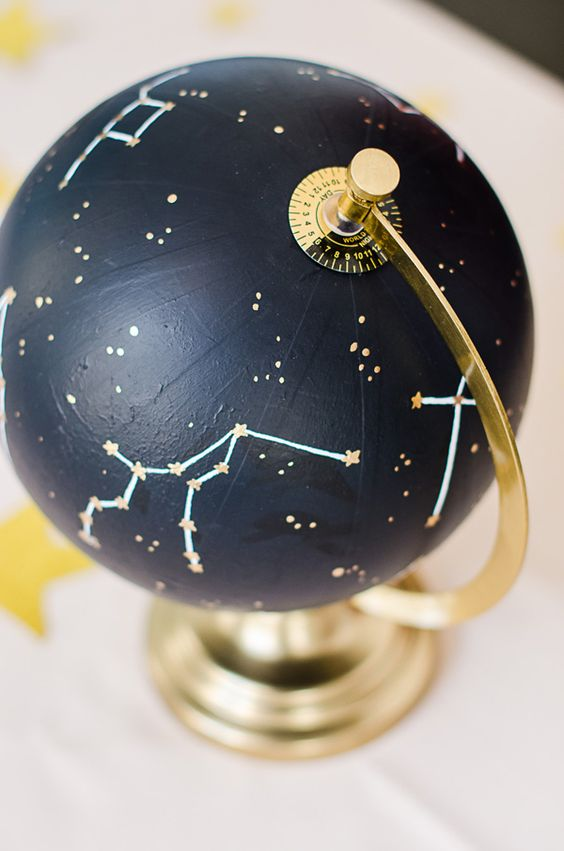 constellation globe as a wedding centerpiece