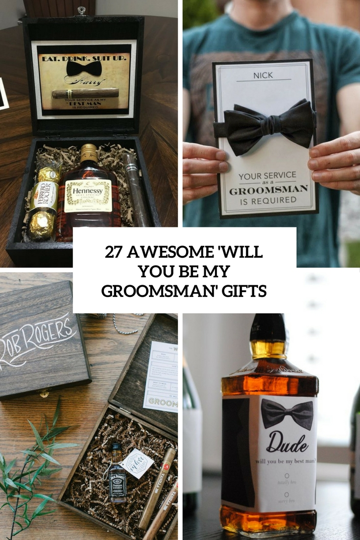 awesome will you be my groomsman gifts cover